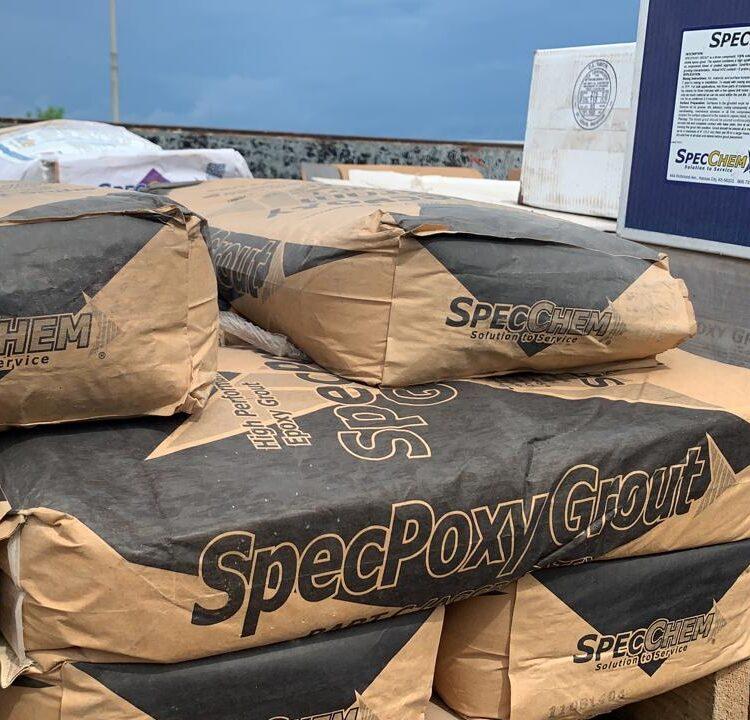 Aplicación del SpecPoxy grout en el tramo marino del Corredor Sur construventas 3